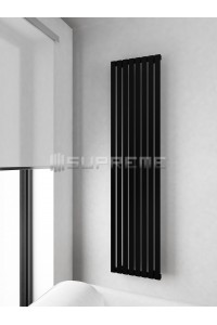 400 x 1700 mm Sort Vertikal Design Radiator