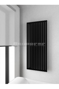 600 x 1400 mm Sort Vertikal Design Radiator