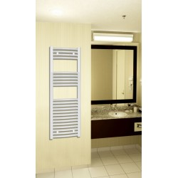 400x1200 mm Hvid Oval Håndklæderadiator