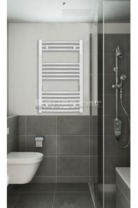 500x800 mm Hvid Oval Håndklæderadiator