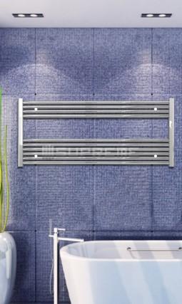1200x600 mm Krom Plan Håndklæderadiator