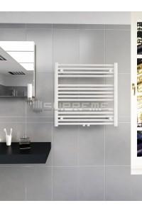 700 x 700 mm Multi Tilslutning Kombi Hvid Håndklæderadiator
