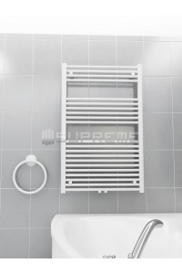 700 x 1100 mm Multi Tilslutning Kombi Hvid Håndklæderadiator