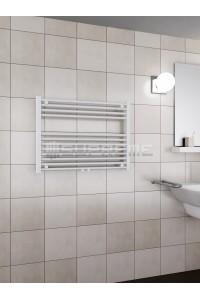 800 x 600 mm Multi Tilslutning Kombi Hvid Håndklæderadiator
