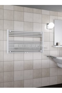 1000 x 600 mm Multi Tilslutning Kombi Hvid Håndklæderadiator