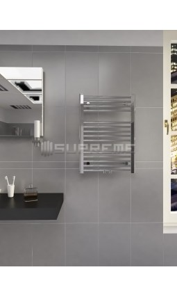 500 x 700 mm Multi Tilslutning Kombi Krom Håndklæderadiator