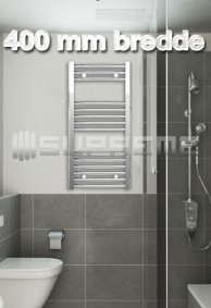 400 mm Brede Håndklæderadiator & Håndklædetørrer