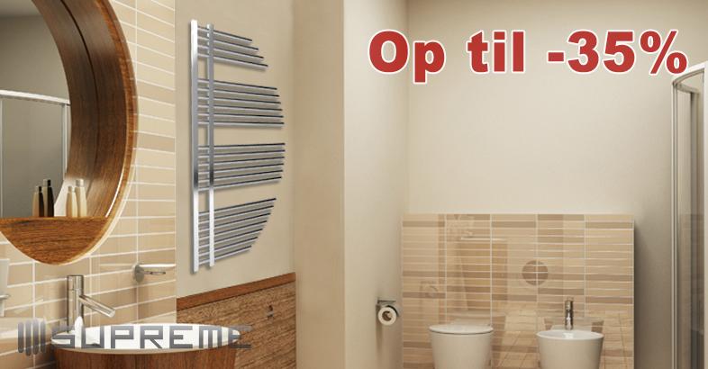 Gør dit badeværelse komplet med en stilfuld Supreme håndklæderadiator!
